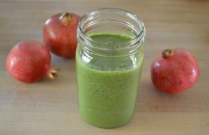 Pomegranate green smoothie